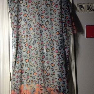 "Cheetah/floral design ""blanket"" scarf"